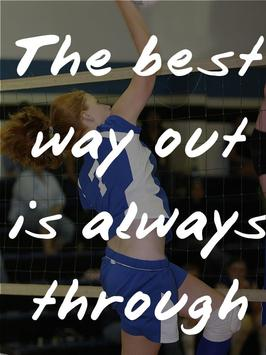 Volleyball Quotes for Team poster