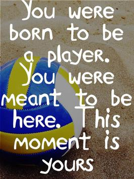 Beach Volleyball Quotes poster