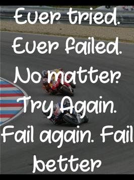 Motivational Bike Racing Quote poster