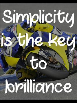 Motivational Bike Racing Quote apk screenshot