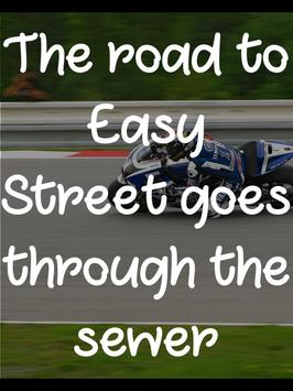 Famous Bike Racing Quotes poster