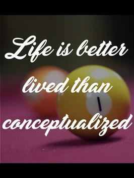 Billiards Quotes Life poster