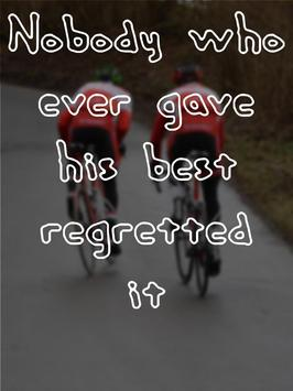 Cycling Quotes Inspirational poster