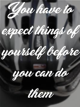 Cycling Quotes Pain poster