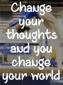 Gymnastics Motivational Quotes poster