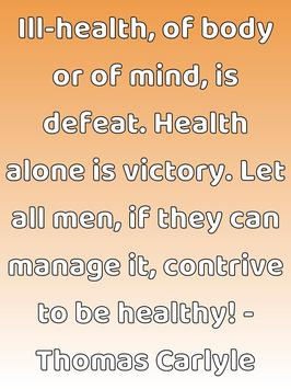 Healthy People Quotes poster