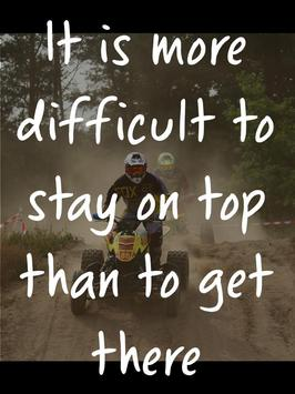 Motocross Quotes from Riders poster