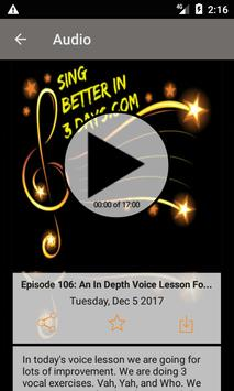 Sing Better In 3 Days; Voice and Singing Lessons poster