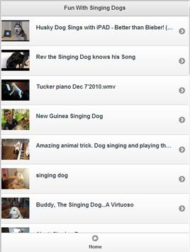 Fun With Singing dogs poster