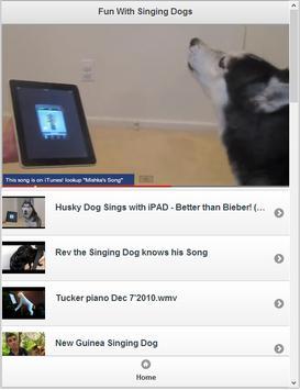 Fun With Singing dogs apk screenshot