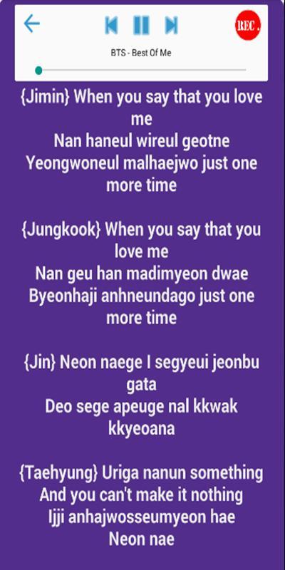 Karaoke Song BTS 2018 + Lyrics for Android - APK Download