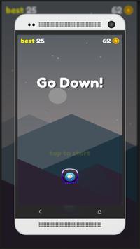 Emoji down - one tap game poster