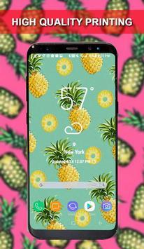 Wallpaper of Pineapple Custom Poster Maker poster
