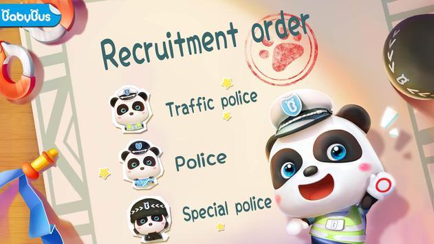 Little Panda Policeman poster