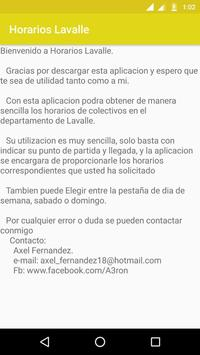 Horarios Lavalle apk screenshot