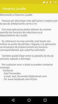 Horarios Lavalle screenshot 4