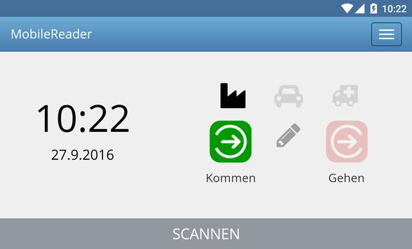 MobileReader - Zeiterfassung apk screenshot