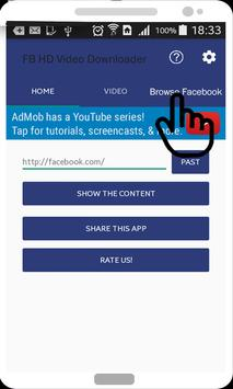 Video Downloader for FB 2017 apk screenshot