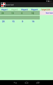 Rummy Score Card apk screenshot