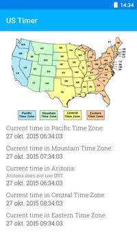 Us timezones clock apk download free tools app for android us timezones clock poster publicscrutiny Image collections