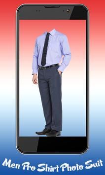 Men Pro Shirt Photo Suit screenshot 1
