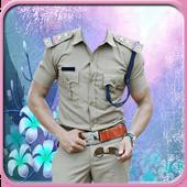 Police Men Photo Suit icon