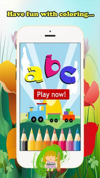 ABC Coloring Book For Kids (L) poster