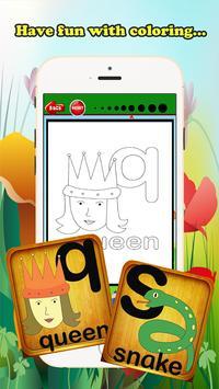 ABC Coloring Book For Kids (L) screenshot 3