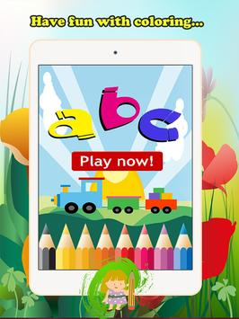 ABC Coloring Book For Kids (L) screenshot 4