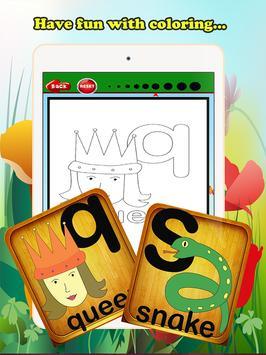 ABC Coloring Book For Kids (L) screenshot 7