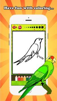 Bird Coloring Book For Kids screenshot 2