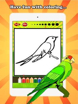 Bird Coloring Book For Kids screenshot 5