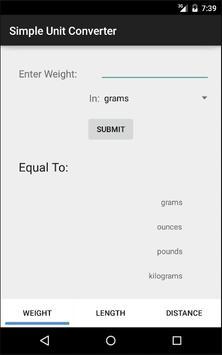 Simple Unit Converter apk screenshot
