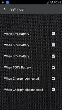 Talking Battery  Meter Alarms screenshot 3