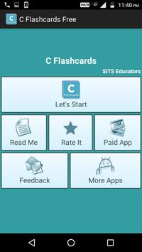 C Flashcards Free poster