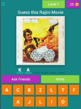 Superstar Rajini Movie Quiz screenshot 6