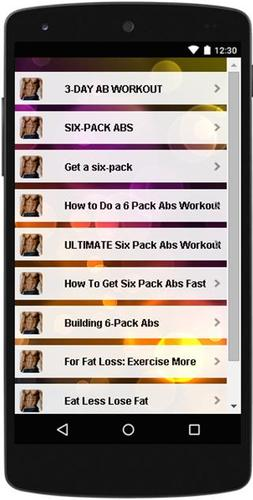 Six Pack Abs Workout pour Android   –