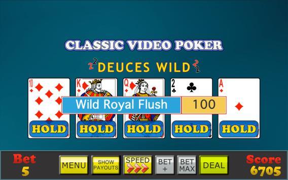 Mojo Video Poker apk screenshot