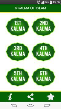 Six Kalimas of Islam - Islamic App poster