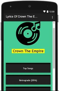 Lyrics Of Crown The Empire poster