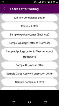learn english letter writing with 2000 examples screenshot 7