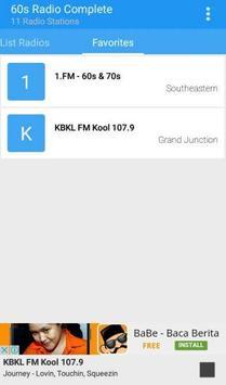 60s Radio Complete apk screenshot
