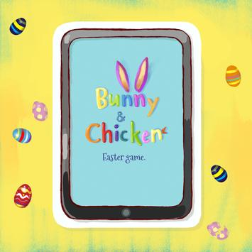 Bunny and Chicken Easter game poster