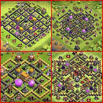Top Maps for Clash of Clans poster