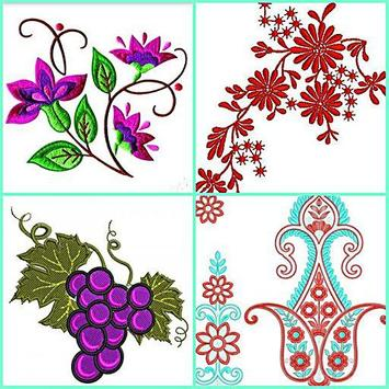 Embroidery Pattern Design poster