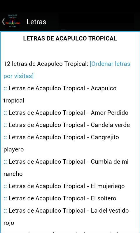 Acapulco Tropical Letras For Android Apk Download