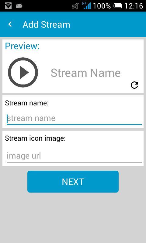 RTMP, rtsp, m3u Stream Player for live TV & Radio for