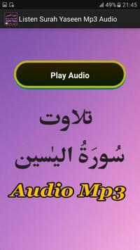 Listen Surah Yaseen Mp3 Audio apk screenshot