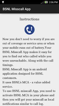 BSNL Misscall App poster