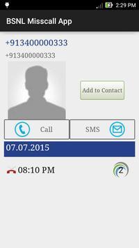 BSNL Misscall App apk screenshot